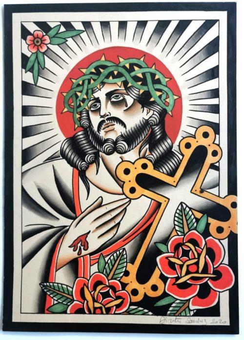 CALAVERA TATOUAGE TATOUAGE Rennes JESUS & MADONE (6) 214